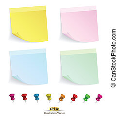 paper note - Vector for business concepts with icons / can...