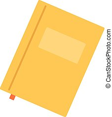 Paper notebook icon, flat style