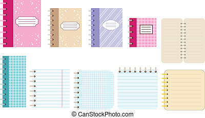 Paper notebooks. Diaries. - Vector illustration. It is...