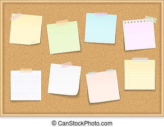 Paper Notes on Bulletin Board