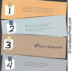 Paper Number Step Banner