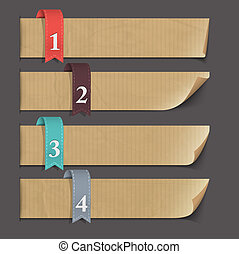 Paper numbered banners