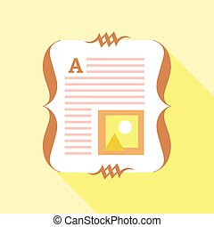 Paper of book icon, flat style