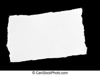 paper on black background