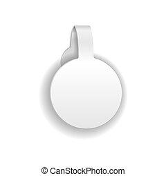 Paper Or Plastic Wobbler. Isolated On White. Vector Illustration