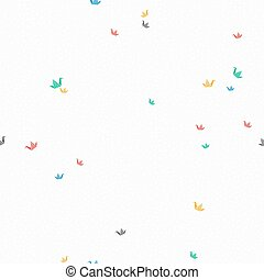 Paper origami crane bird background pattern art