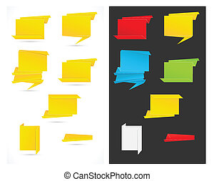 Paper Origami Speech Bubbles Vector