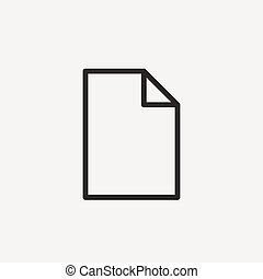 paper outline icon