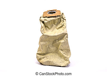 Paper package bag for dust for a vacuum cleaner