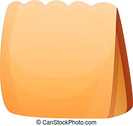 Paper package icon, cartoon style