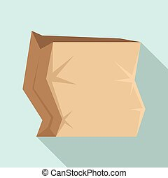 Paper package icon, flat style