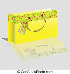 paper package of yellow color
