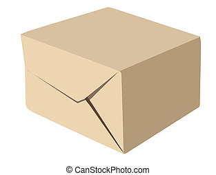 paper package on white background, vector illustration