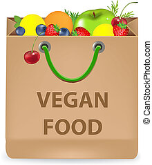 Paper Package With Vegan Products
