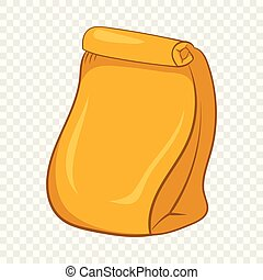 Paper packing icon, cartoon style