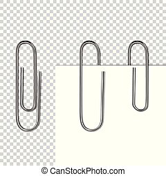 Paper page on clip vector illustration