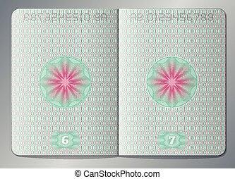 Open Passport Blank