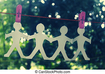Paper People Chain Hanging