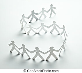 paper people cutout connection community