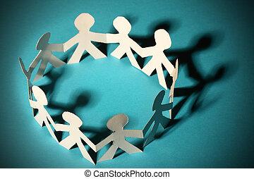 Paper people - Team of paper people