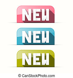 Paper Pink, Blue, Green Vector New Tags