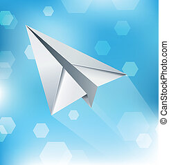 Paper Plane Abstract Background