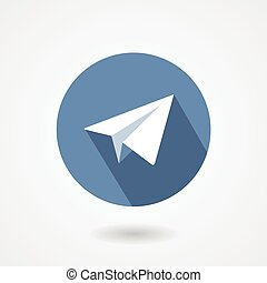 Paper plane icon isolated on white background