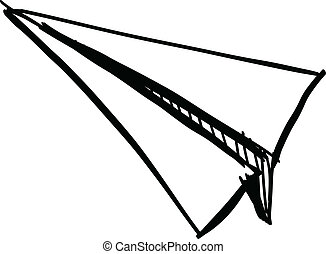 Paper plane icon isolated on white.