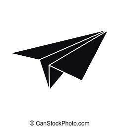 Paper plane icon, simple style