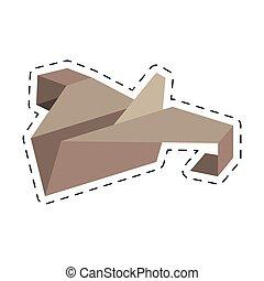 paper plane start up symbol cut line