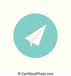 Paper plane vector icon airplane travel symbol for your web site design, logo, app, UI. Vector illustration