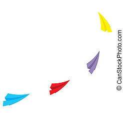 paper plane  vector illustration