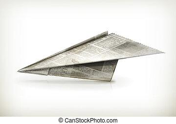 Paper plane, vector
