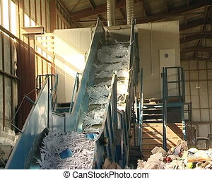 paper polythene escalator