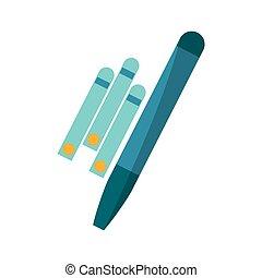 Paper probe of medical care design - Paper probe icon....