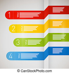 Paper progress steps for tutorial, infographics - One, two,...