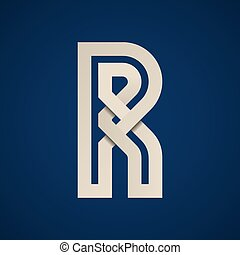 paper R simple letter symbol vector