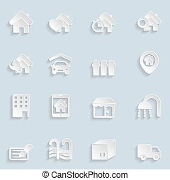 Paper Real Estate Icons