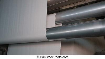 paper., recyclage, equipment., usine, machine, production, rouleau papier