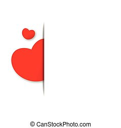 Paper red heart background