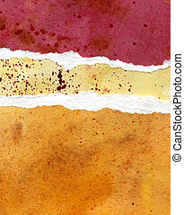 Paper red, yellow and orange watercolor background