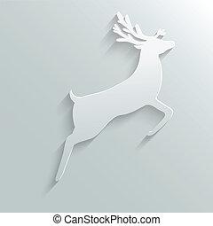 paper reindeer - paper reindeer