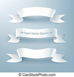 Paper ribbon banner. - Vector illustration of paper ribbon...
