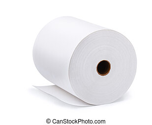 Paper roll - Large roll of blank paper isolated on white
