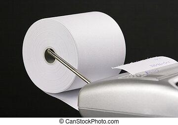 paper roll of a desk-top calculator 01