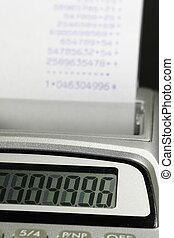 paper roll of a desk-top calculator 02
