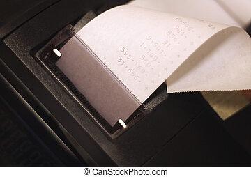 paper roll of calculator