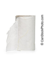 paper roll on white background.