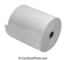 paper roll sideways - studio photography of a white paper...
