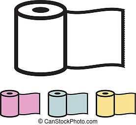 Paper roll. Toilet Paper. Vector illustration.